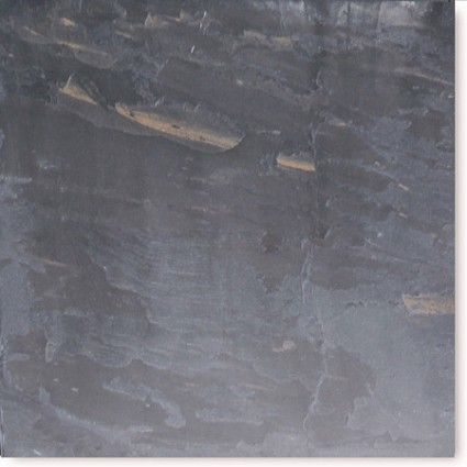 "Black Rustic Cleft Slate Tile 18""x18"""
