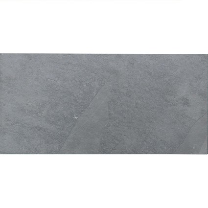 "Brazilian Gray (Montauk Blue) Cleft Slate Tile 12""x24"""