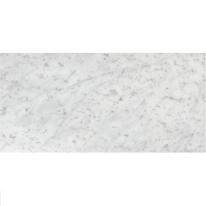 "White Carrara Polished Marble Tile 12""x24"""