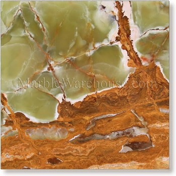 "Multi Green Onyx Tile 12""x12"""