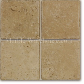 "Classico Tumbled Travertine Tile 6""x6"""