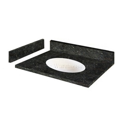 "Verde butterfly Granite Vanity Top 37"" x 22"" with Porcelain Bowl"