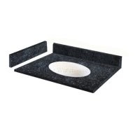 "Blue Pearl Granite Vanity Top 31"" x 22"" with Porcelain Bowl"