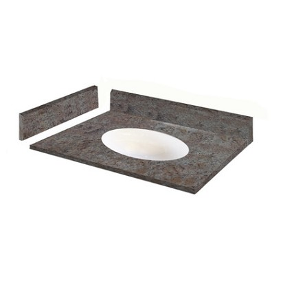 "Kashmir Gold Granite Vanity Top 31"" x 22"" with Porcelain Bowl"