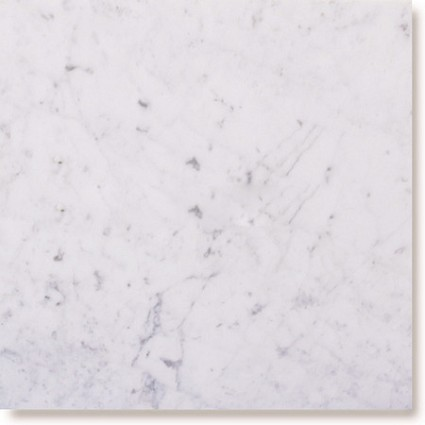 "White Carrara Marble Tile 18""x18"""
