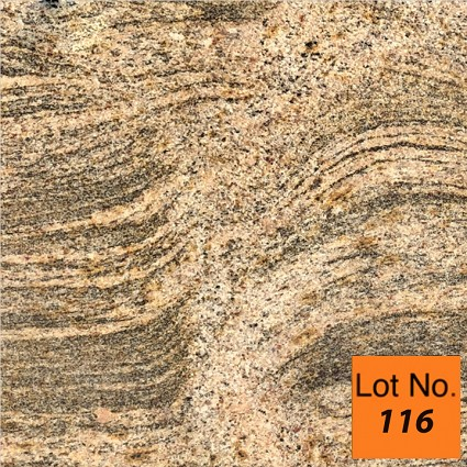 Lot #116: Pallet: Juparana Colombo Gold Granite Tile 12x12 : 420 Sq/Ft