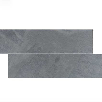 "Brazilian Gray Cleft Slate herringbone Tile 6""x24"""