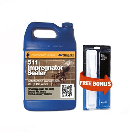 511 Impregnator Penetrating Sealer 128 oz. - Gallon  + Free Mira Brush Applicator and Tray by Miracle Sealants