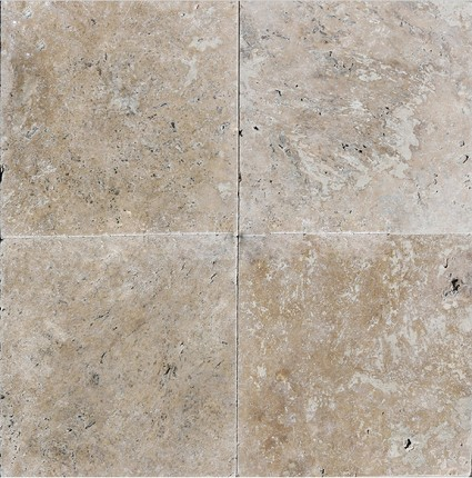 "Light Noce Pavers Travertine 12""x12"""