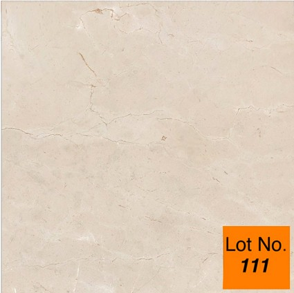 "Lot #111: Pallet: Crema Marfil Marble Tile 18""x 18""x 1/2"" : 337 sq.ft."