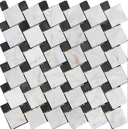 Carrara Polished black and white Square random 2x2, 1x1