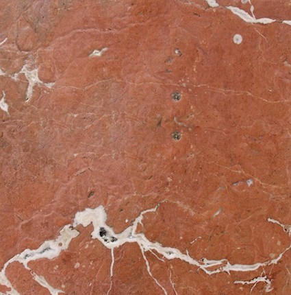 "Rojo Alicante Antiqued / Brushed Marble Tile 12""x12"""