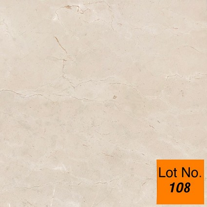 "Lot #108: Pallet: Crema Marfil Marble Tile 24""x 24""x 1/2"" : 300 sq.ft."