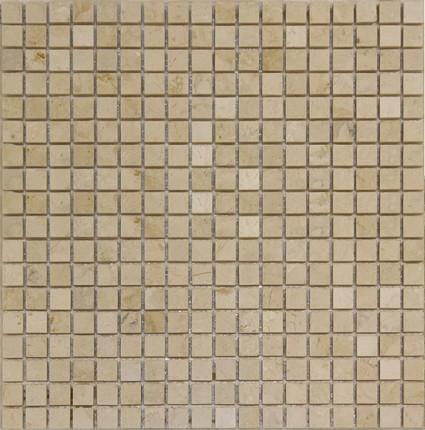 "Tropical Cream Mosaic Sheet Marble 12""x12"""