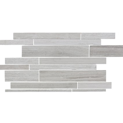 Wooden Gray Marble Tile Mosaic Polished 23x11 3/8
